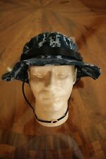 USN US NAVY TYPE MARPAT BLUE TWILL CAMOUFLAGE COMBAT FLOPPY HAT BOONIE CAP 7 1/4