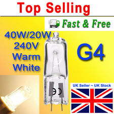 G4 Halogen Capsule Light Bulbs Clear Glass 12V,  20W Watts Dimmable Long Life