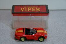 1992 Hot Wheels Red Dodge Viper w/ Plastic Display Box
