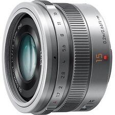 PANASONIC LUMIX G LEICA DG SUMMILUX 15mm F1.7 ASPH. Silver Lens [H-X015]