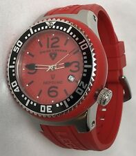 Swiss Legend MEN'S Red Neptune Watch Silicon Band