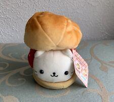 "Nyan Nyan Nyanko San-x Strawberry Cream Cake Bread 6"" Plush Stuffed Toy Japan"