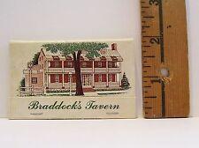 Vintage Braddock'S Tavern Medford N.J. Advertising Matchbook