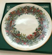 "Lenox Colonial Christmas Wreath Virginia First Colony Collector Plate 10"" 1981"