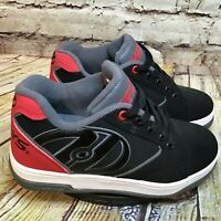 Heelys Boys Black and Red Skate Shoes Size 3 Youth