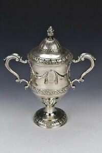 18th Century Matthew West Irish Sterling Silver Trophy Loving Cup 48+ Troy Ounce