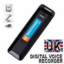 SPY 16GB DIGITAL VOICE RECORDER DICTAPHONE RECHARGEABLE 16 GB USB MEMORY STICK