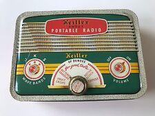 Vintage Keiller of Dundee - RADIO design tin with tuning knob locking hinged lid