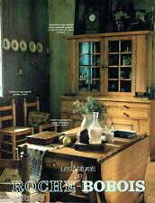 PUBLICITE ADVERTISING 036  1980  Roche -Bobois les naturels vaisselier table pin