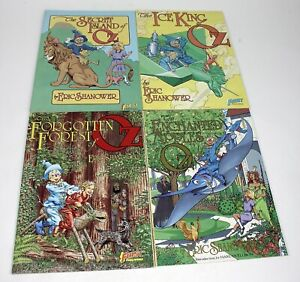 4 Eric Shanower Graphic Novels (OZ Books) 1980s Some 1st Prints Color Illustrate