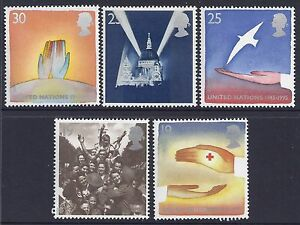 1995 GB EUROPA PEACE AND FREEDOM FINE MINT SET OF 5 MNH SG1873-SG1877