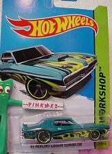 Case J/K 2014 Hot Wheels '69 MERCURY COUGAR ELIMINATOR 1969 #219 US~Teal Green~
