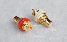 1 pair Hi End Teflon RCA Socket 1028  phosphor bronze Gold plated