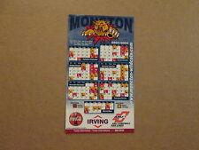 QMJHL Moncton Wildcats Circa 2003-2004 Magnet Schedule