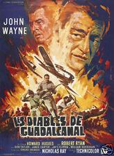 Flying leathernecks John Wayne vintage movie poster