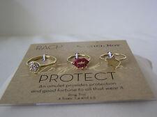 Rings, various sizes 3, 7.4, 2.5 Rachel Rachel Roy Gold Tone Crystal Toe