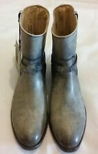 FRYE Lindsay Plate Western Distressed Leather Ankle Boots Grey Size uk 4 eu 37
