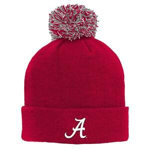 Alabama Crimson Tide NCAA Toddler / Boy's (4-7) Cuffed Knit With Pom Caps/Hats
