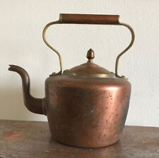 Vintage Copper and Brass Teapot Water Kettle England