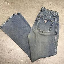 Vintage 90s Guess Triangle Logo Denim Blue Jeans Mens 30 x 30