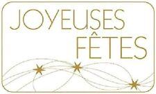 15 Etiquettes autocollantes stickers cadeaux JOYEUSES FETES Blanc  - Ref ROM5