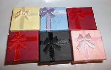 1 SET 6 ASSORTED COLOR JEWELRY GIFT BOXES FIT RINGS+BROOCHES+SMALL ITEMS