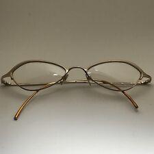 Thalia by Kenmark Princessa Metallic Gold Rim Cat Eye RX Eyeglass Frames