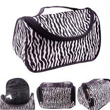 Women Ladies Zebra Makeup Bag Make up Cosmetic Pouch Travel Toilet Case Handbag