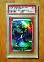 2014 Topps Chrome MINI Pink Refractor /25 RICHARD SHERMAN - PSA 9 MINT