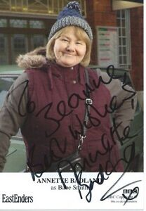 Babe Smith ( Eastenders )Signed Annette Babland Cast Card