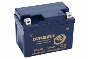 MG4LBS DYNAVOLT MOTORCYCLE GEL PERFORMANCE BATTERY OEM APPROVED YTX4L-BS
