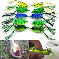 Useful Topwater Soft Frog Rubber Fishing Lure Crankbait Bait Tackle Bass Hooks