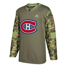 Montreal Canadiens Nhl Camo 2017-18 auténticas fuerzas armadas Camo práctica Jersey