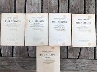 OEUVRES COMPLETES DE PAUL VERLAINE - 5 VOLUMES - 1947