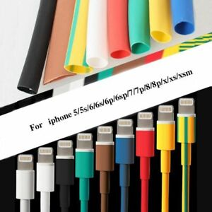 1m Heat Shrink Tube Cable Protector Cord Cover Organizer Android Iphone 5 5s 6 6