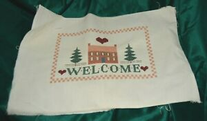 Welcome Friends   CROSS STITCH completed