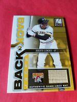 ROBERTO CLEMENTE GAME USED BAT CARD #d83/150 2002 ELITE BACK 2 BACK PIRATES