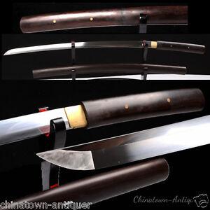 Japanese Knife Samurai Sword KatanaHand Forged High Manganese Steel Sharp #2495