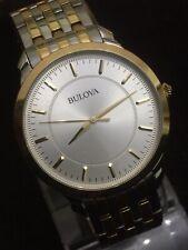 bulova mens watch,42mm Case,lovely Silver Face Gold Dail
