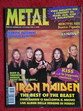 rivista METAL SHOCK 225/1996 Iron Maiden Terrorvision Garbage Kiss Death SS Nocd