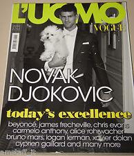 L'UOMO VOGUE MAGAZINE=2011/422=NOVAK DJOKOVIC=BEYONCE =XAVIER DOLAN=ROHRWACHER=