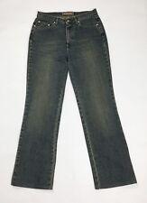 Black code jeans donna usato straight gamba dritta W32 tg 46 denim vintage T3442