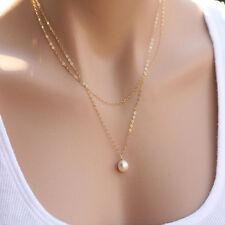 Hot Selling Pearl Choker Chunky Statement Necklace Jewelry Chain Pendant Women