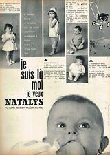 I- Publicité Advertising 1962 Les vetements pour enfants bébé Natalys