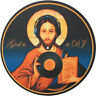 Glowtronics - God Is A DJ Glow In The Dark Slipmat Blue