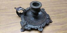 Victorian Cast Iron Candle Holder (Chamber Stick) Size: 5 ¾� x 3� high