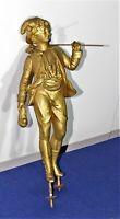 statue - sujet en régule (spelter) doré - Chasseur - ( P 155 )