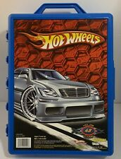 Mattel 2005 Hot Wheels Carrying Case Blue Holds 48 Cars Pre-owned Good Condition