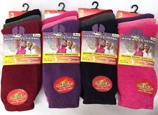 12 PAIRS ASSORTED DARK WARM WINTER THERMAL LADIES  SOCKS UK 4-7 EU 35-39 L10733
