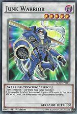 YU-GI-OH CARD: JUNK WARRIOR - SDSE-EN043 1ST EDITION